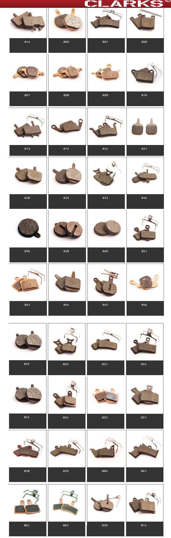 kształty klocków disc do hamulców rowerowych infografika