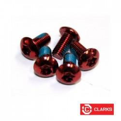 Lekkie śruby do tarczy - torx - czerwone - 12gram CLARKS