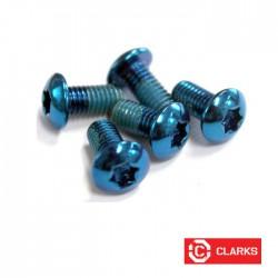 Lekkie śruby do tarczy - torx - niebieskie - 12gram